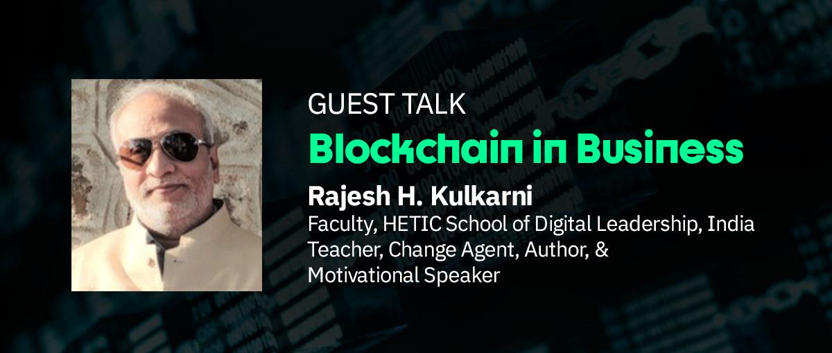 Rajesh H. Kulkarni Guest Talk Image